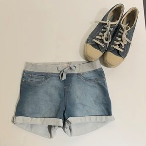lei sweatshirt waistband shortie shorts, Sz. S jr